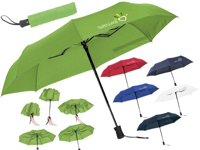 Volautomatische in- en uitklapbare paraplu