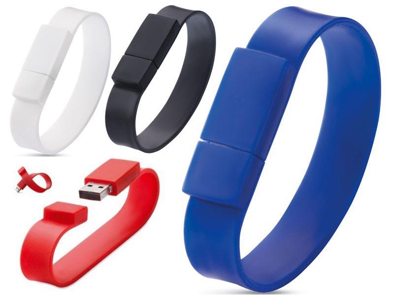 Usb-stick met siliconen armband 4gb