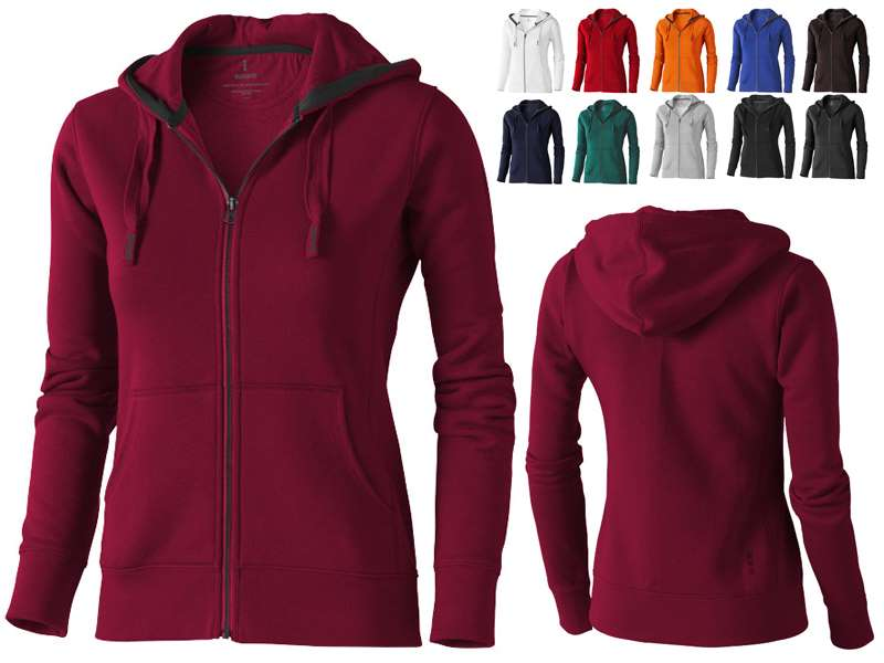 Full zip hooded dames sweater