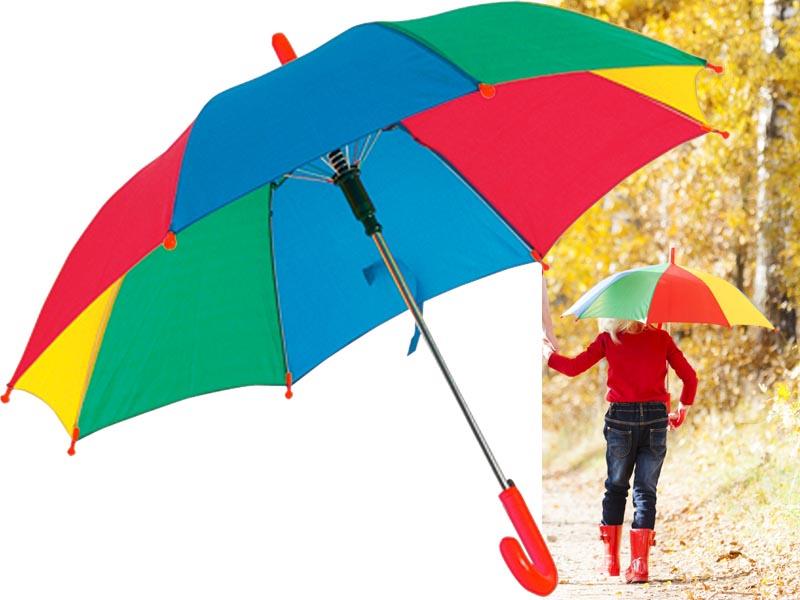 Automatisch kinderparaplu met 8 gekleurde panels