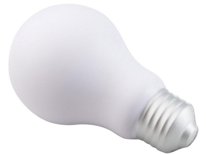 Anti-stress bal in de vorm van een lamp