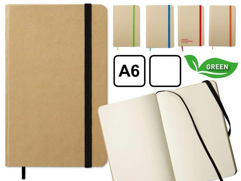 A6 notitieboekje van gerecycled materiaal