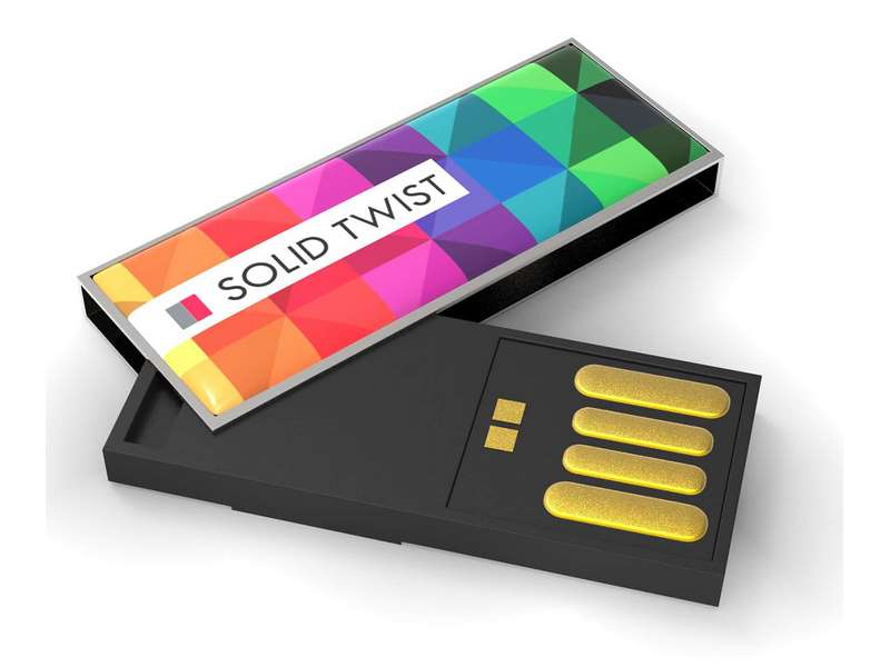 Usb-stick met full colour druk op 1 zijde 4 gb