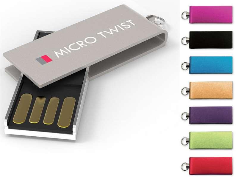 Memory stick geanodiseerd aluminium 4gb. usb 2.0
