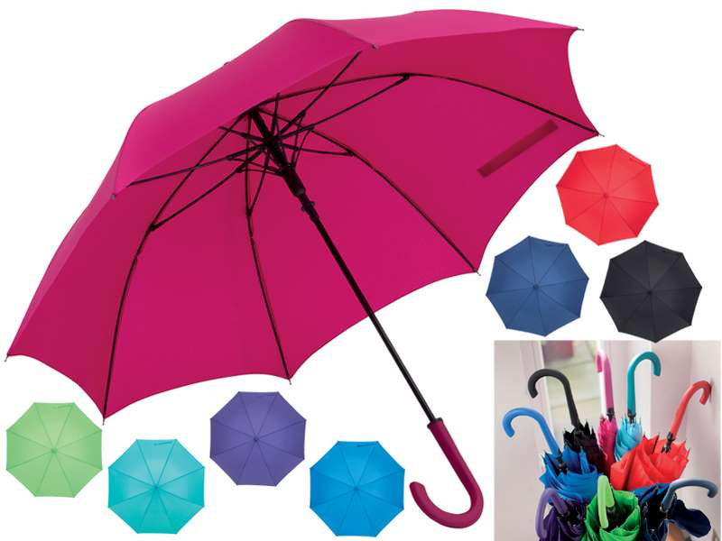Automatische paraplu kell met fiberglas baleinen