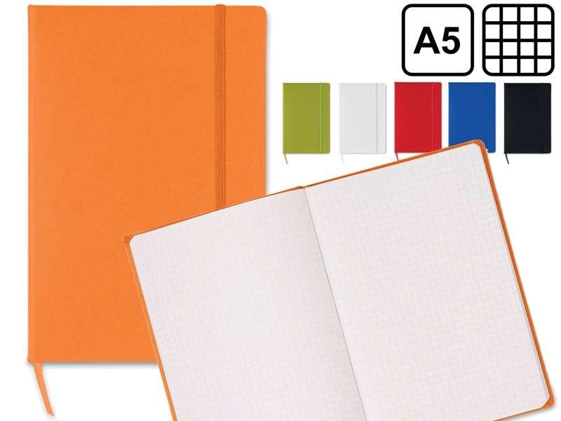 A5 notitieboekje snarry, 96 vel met ruitjes papier