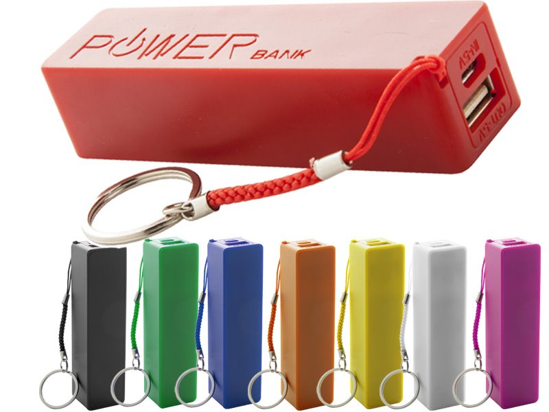 Plastic usb power bank met 2000mah accu