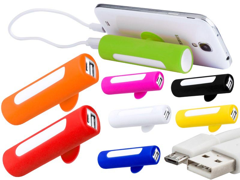 Usb power met zuignap en rubberen cover.2200 mah