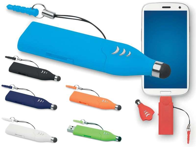 Usb-stick met stylus en micro-usb poort 4 gb