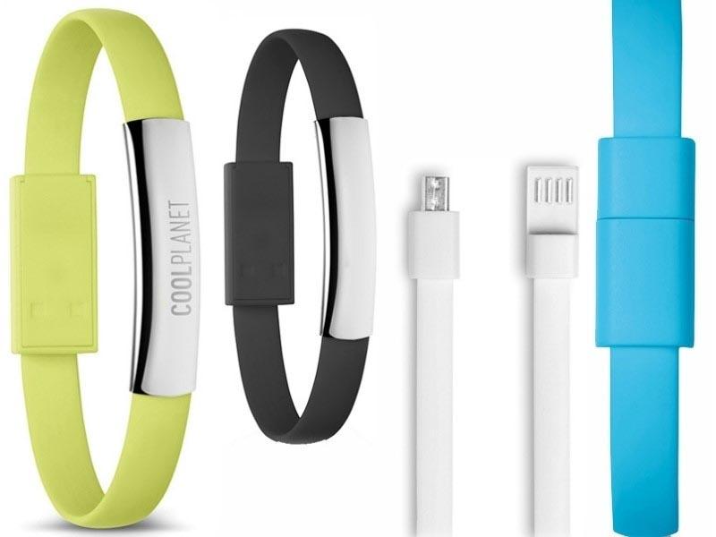 Armband met usb en micro-usb kabel voor smartphone