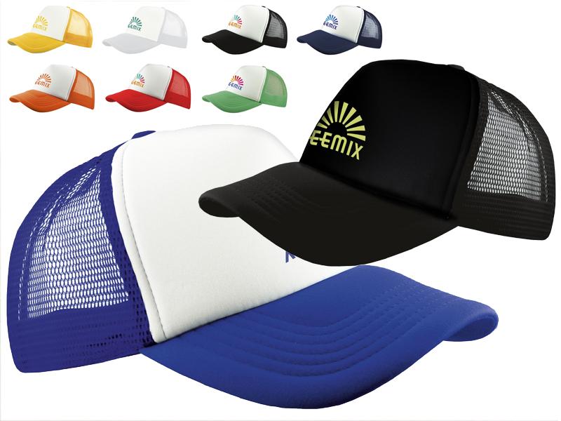 Trucker cap met voorgevormde foam klep