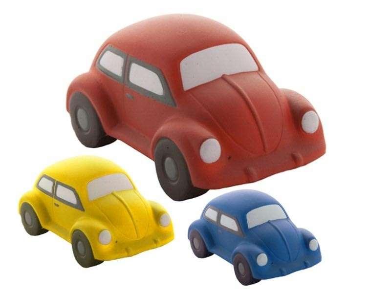 Anti-stress artikel in de vorm van een auto