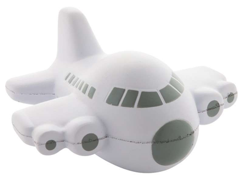 Anti-stress artikel in de vorm van een vliegtuig