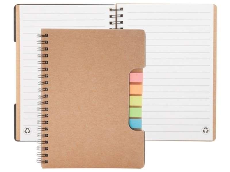 Notitieboek met 60 pagina's en 5x25 sticky notes