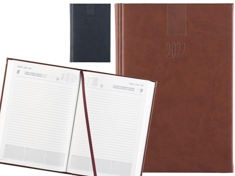 6-talige bureauagenda wit papier