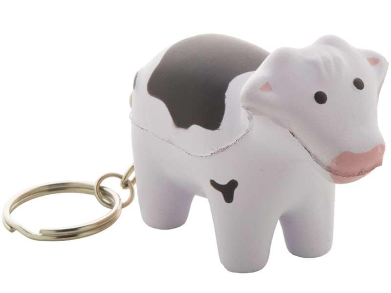 Anti-stress sleutelhanger in de vorm van een koe