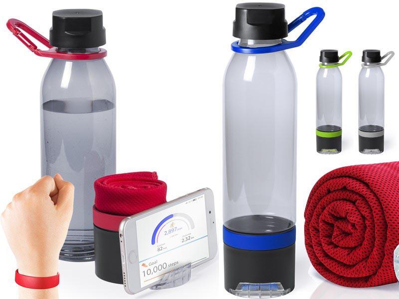 Multifunctionele bidon met handdoekje 650 ml