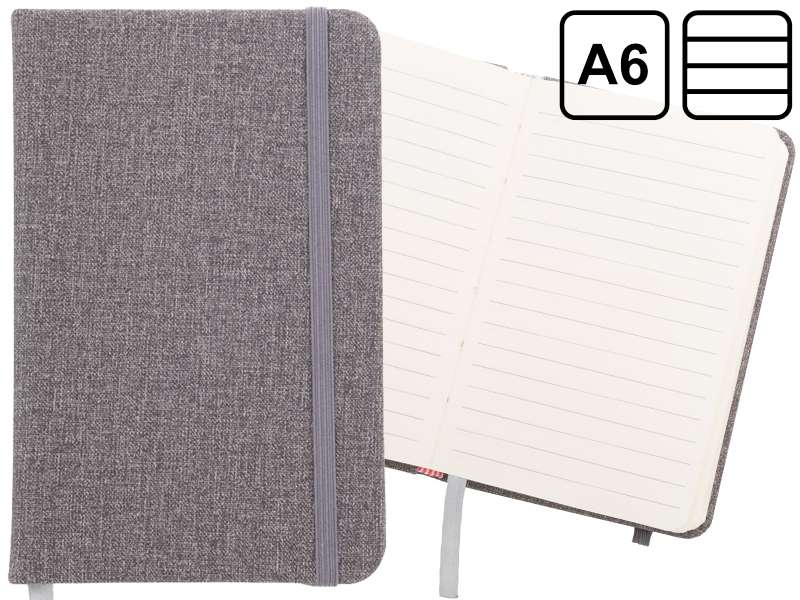 Pu lederen a6 notitieboek met rubberen band