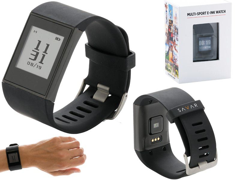 Multi-sport e-ink horloge