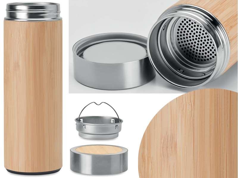 Bamboe thermosfles 400 ml