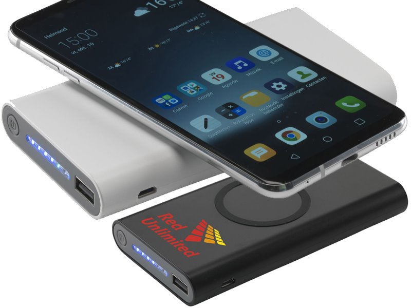 Powerbank 8000 mah en draadloze oplader