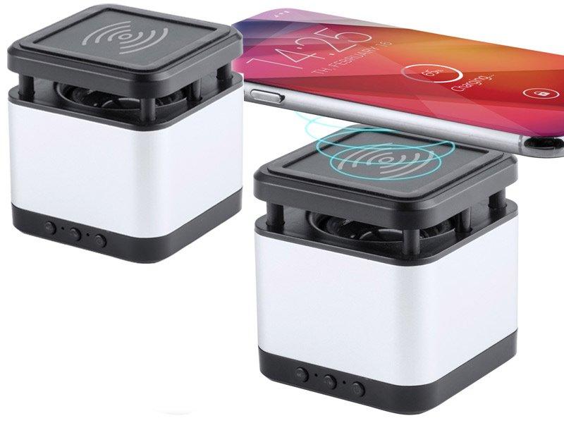 Aluminium bluetooth® speaker en oplader