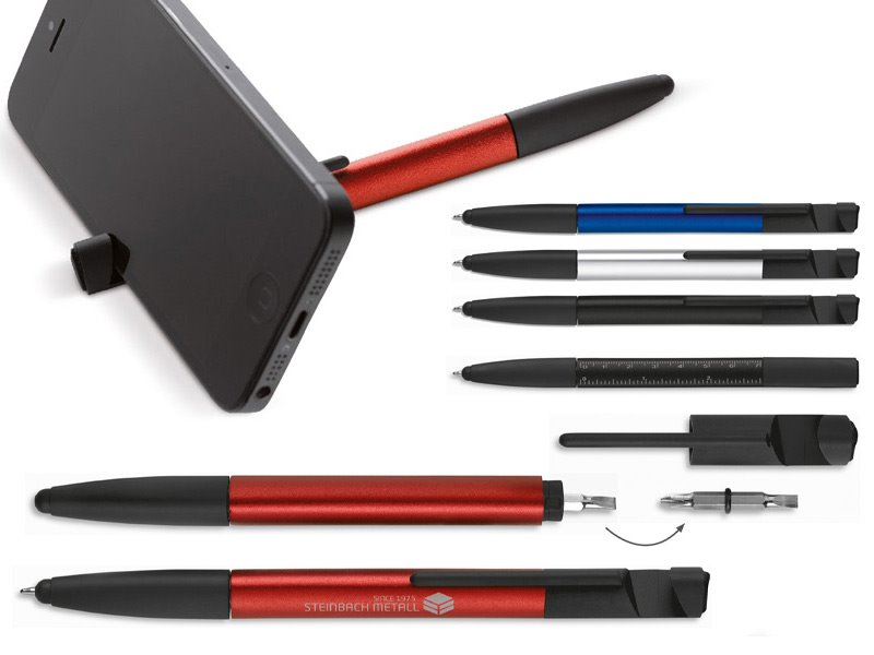 Multifunctionele aluminium balpen 6 in 1