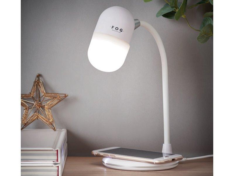 Bureaulamp met oplaadfunctie en speaker