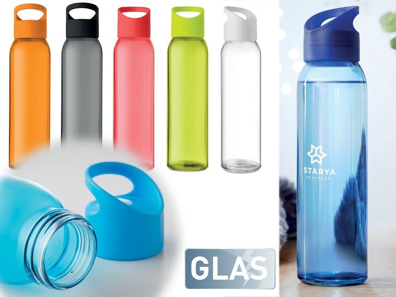 Glazen drinkfles porta