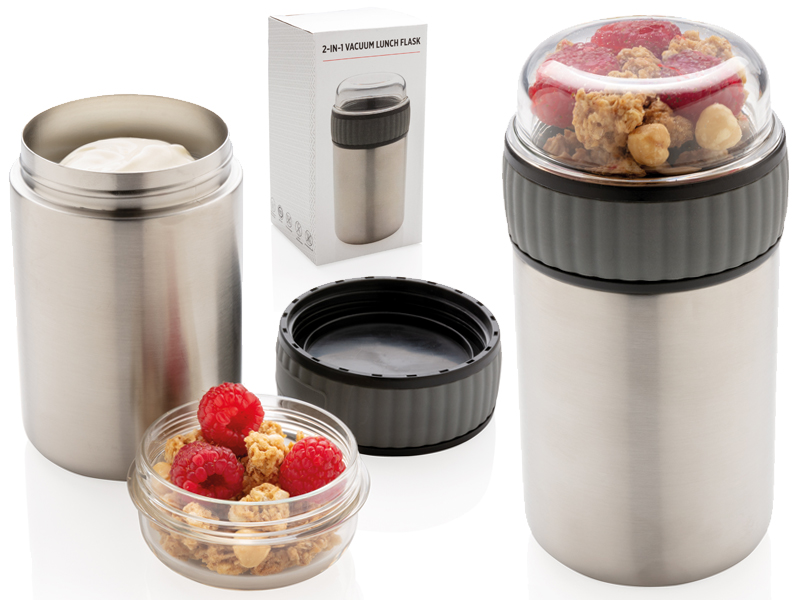 2-in-1 vacuum voedselcontainer