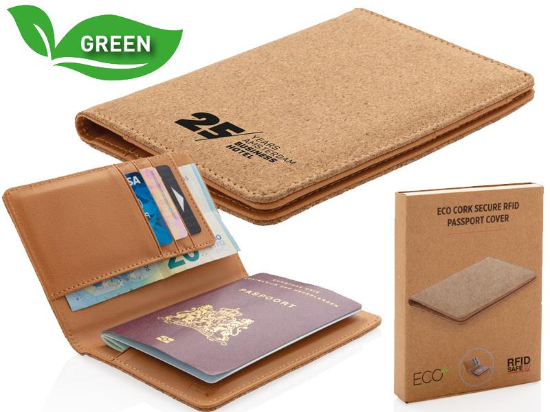 Eco kurk rfid paspoorthouder