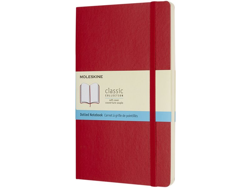 Moleskine classic l soft cover notitieboek stippel