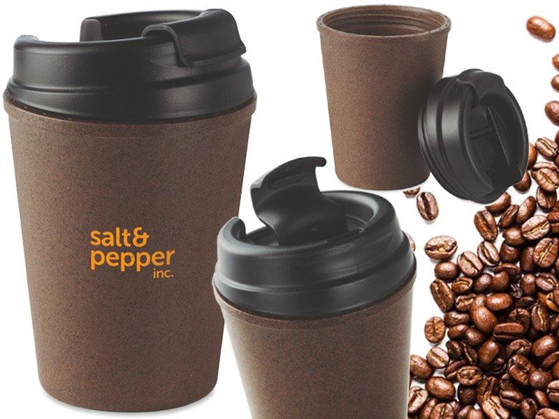 Dubbelwandige mok van koffie/pp brazil