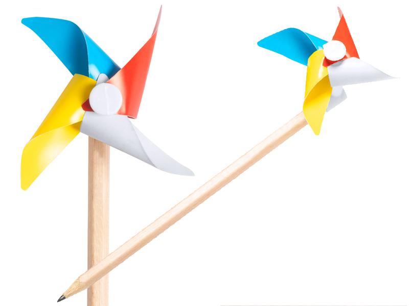 Ongeslepen potlood met windmolentje zhiliane