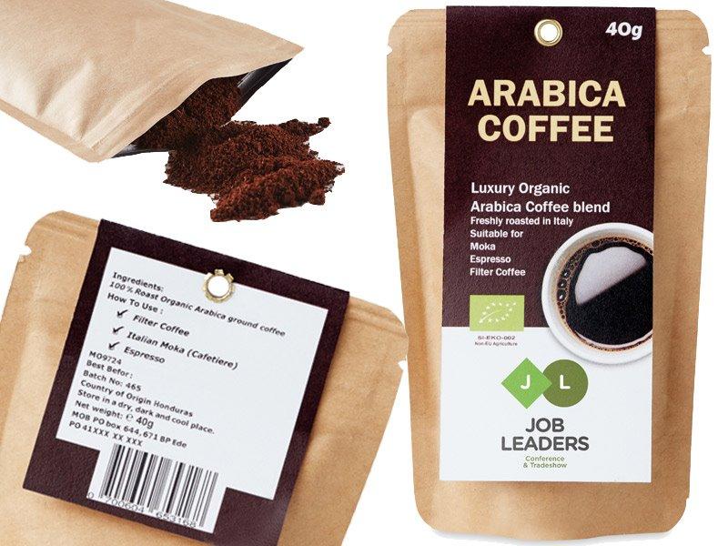 Arabica arabica gemalen koffiebonen 40 gram