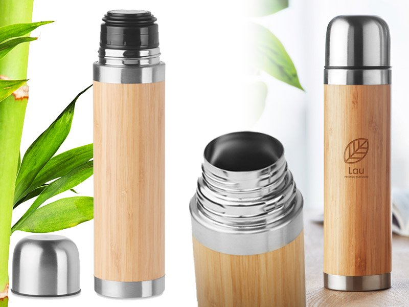 Chan bamboo thermosfles met bamboe