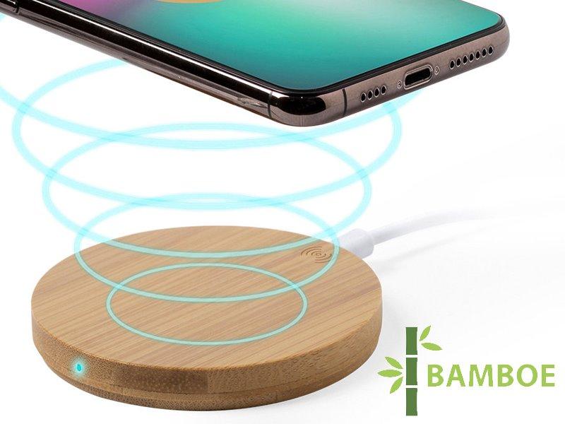 Bamboe draadloze oplader hebant