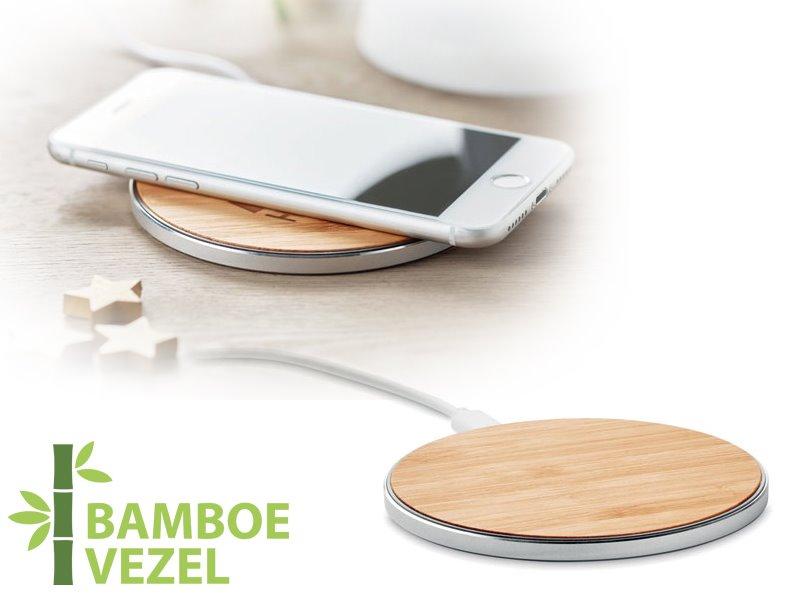Bamboe draadloze snellader despad