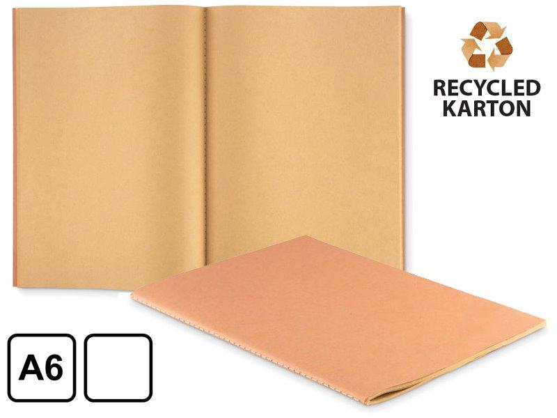 A4 schrift met karton omslag, recycled papier