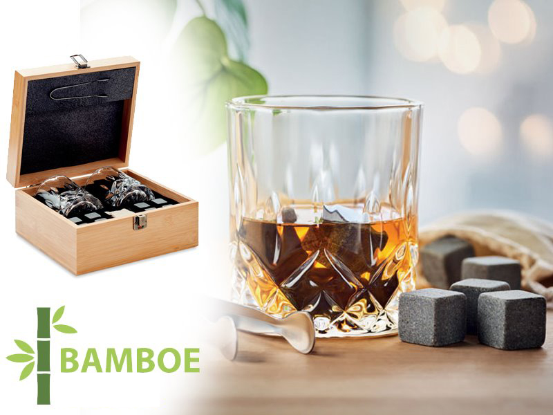 Luxe whiskey set in bamboe inverness