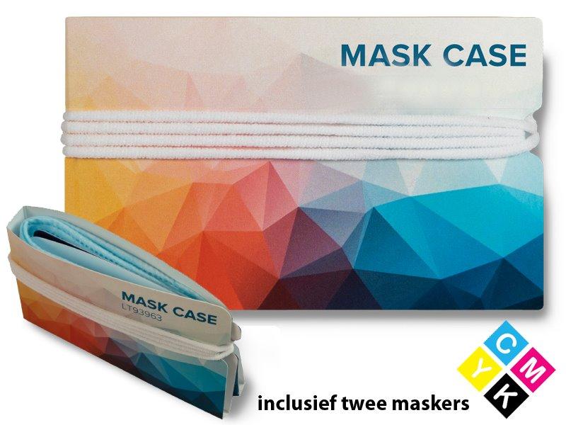 Mapje voor mondmaskers met 2 maskertjes