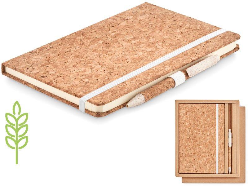 Bamboe a5 notitieboek met balpen suber