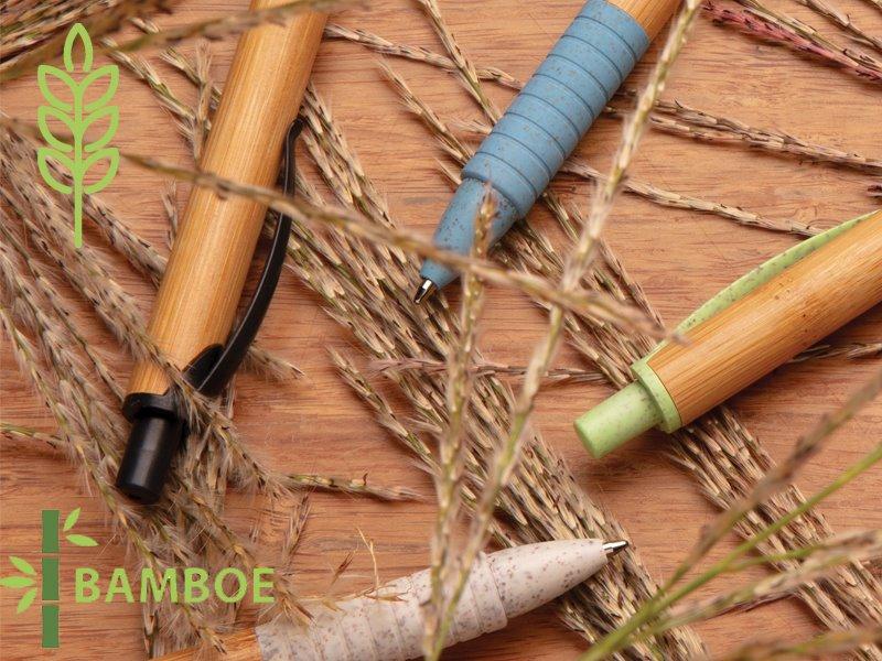 Bamboe en tarwestro pen