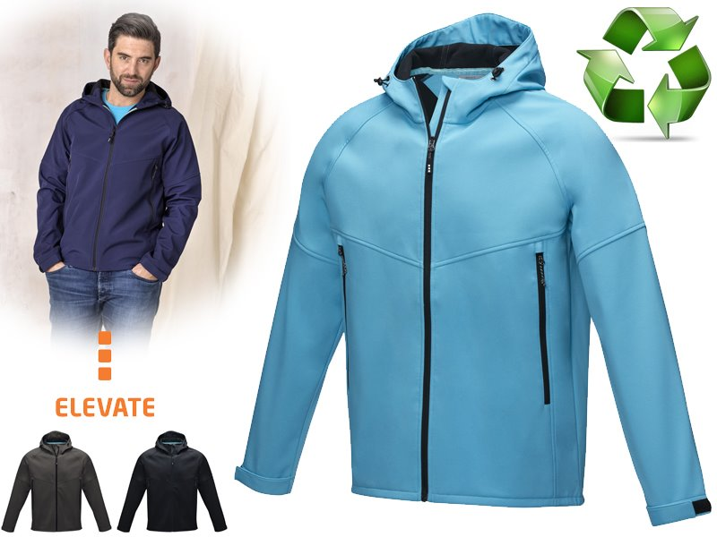 Coltan heren grs-gerecycled softshell jas