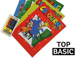 Kleurboek a4 met 6 potloden