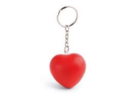 Anti-stress hart met sleutelring