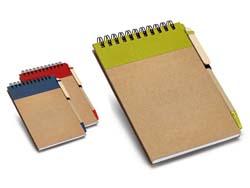 Notitieboekje van gerecycleerd papier kranch