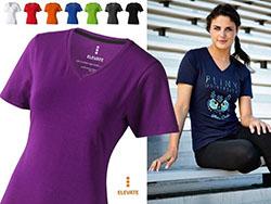V-hals dames t-shirt 200 gr