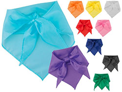 Driehoekige sjaal van polyester