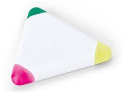 Markeerstift met 3 kleuren driehoekig
